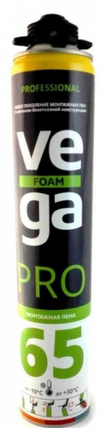"Купить монтажную пену проф. ""VEGA"" Foam Pro 65 , 900ml"