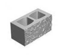 Камень декоративный угловой, серый, 390х190х190