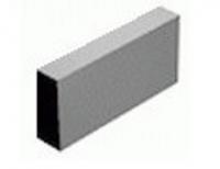 Плита облицовочная (накрывочная) бетонная, cерая, 390х190х60 мм