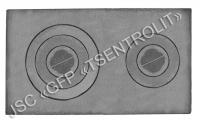 Плита двухконфорочная П2-5, 14с246, 410х710х15 мм, вес 28,6 кг