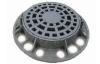 Круглая Магістральная ліўнёўка С250-60 (Дождеприемник круглы), корпус 870х120, рашотка 641х50